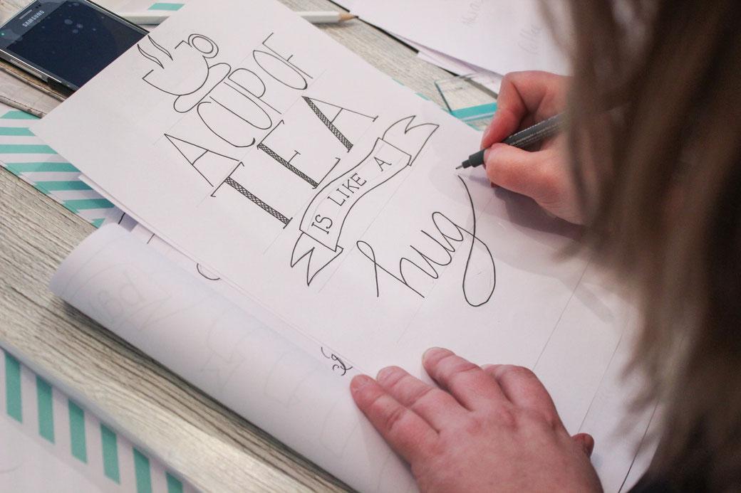 Workshop Handlettering bij Lettertantes in Lisse