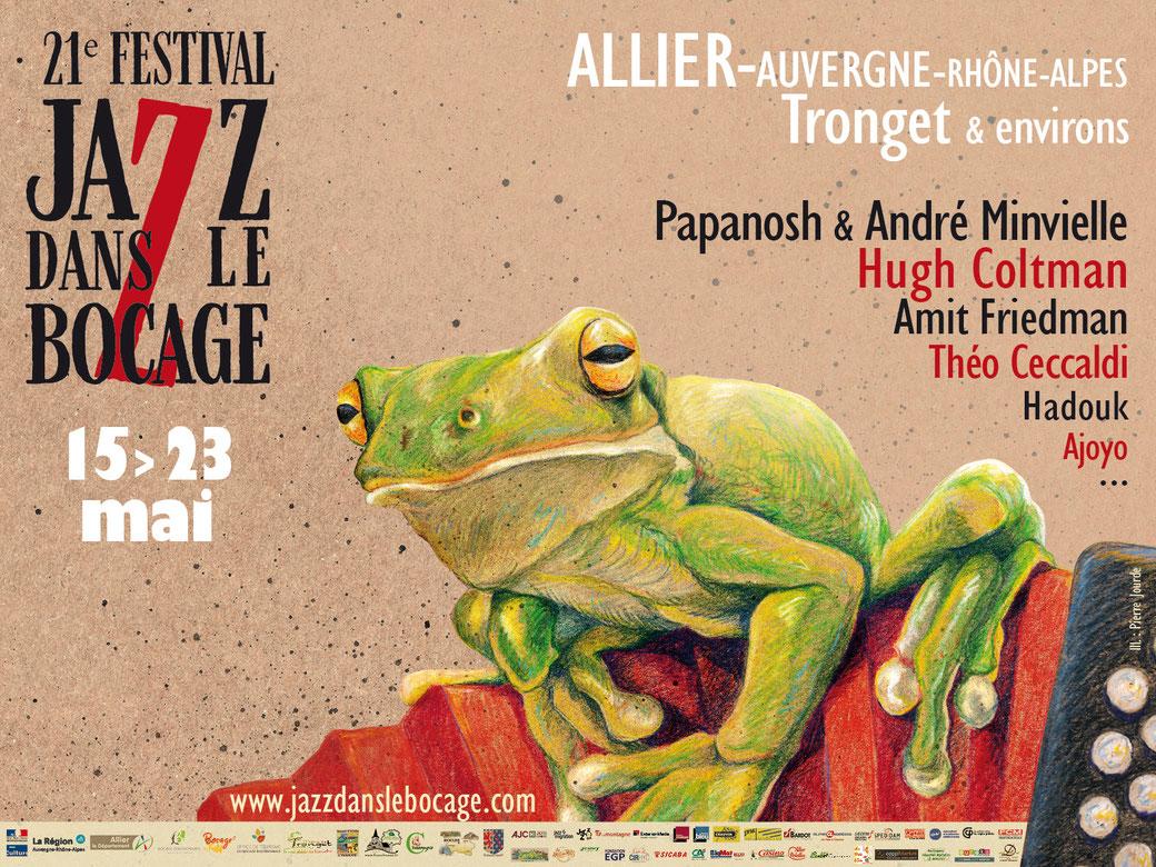 Affiche 4x3 21e festival Jazz dans le Bocage