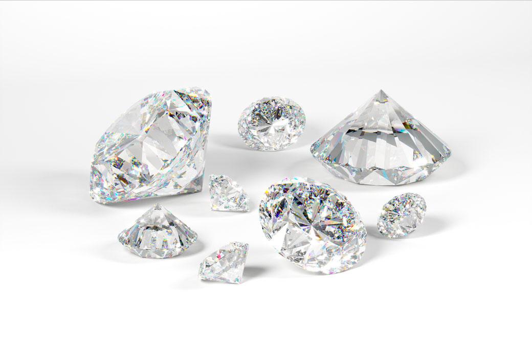 Anlage Diamanten bei OPHIRA in verschiedenen Größen ab 0,01 Karat