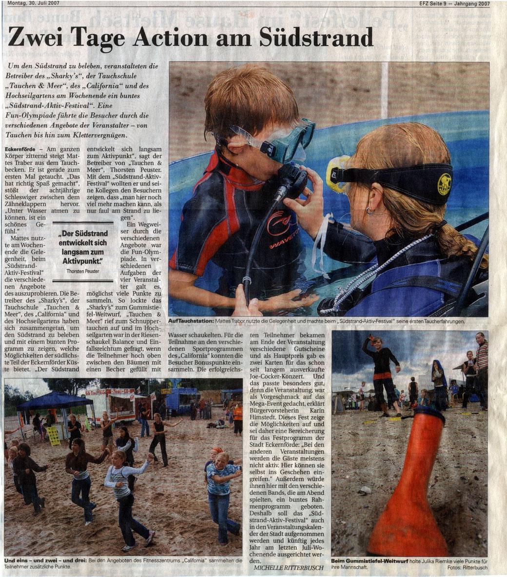 Quelle: Eckernförder Zeitung I Michelle Ritterbusch I 30.07.2007