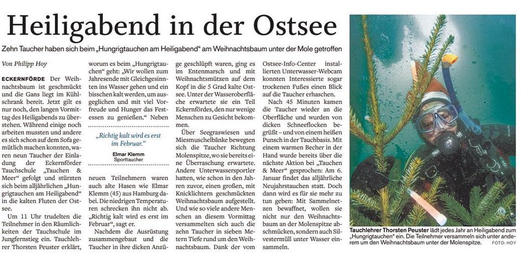 Quelle: Eckernförder Zeitung I Philipp Hoy I 27.12.2018