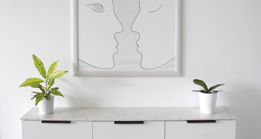 Engineered quartz countertops are hard and practical