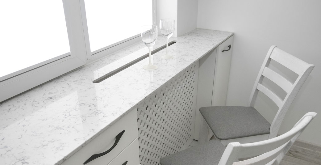 Engineered quartz surfaces are easy to clean