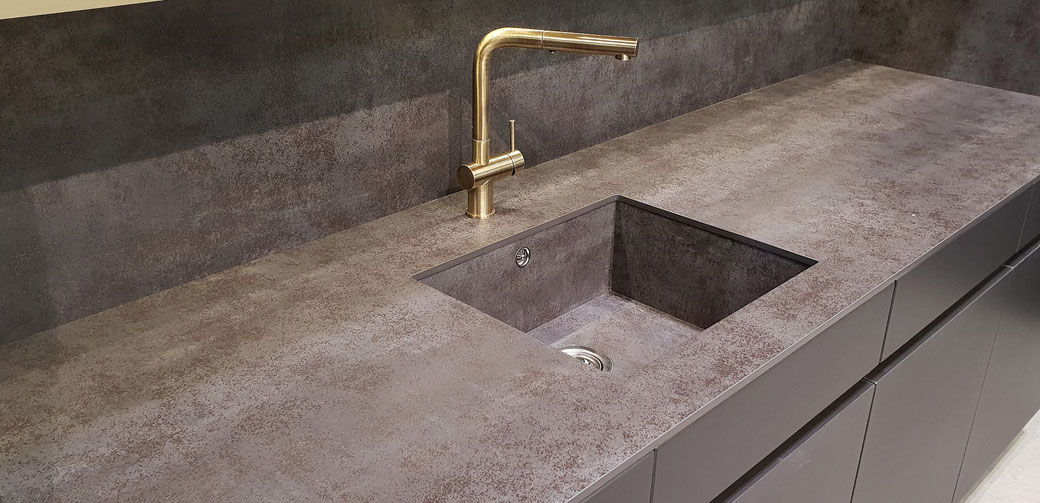Sintered stone countertops do not require sealing and are scratch-resistant