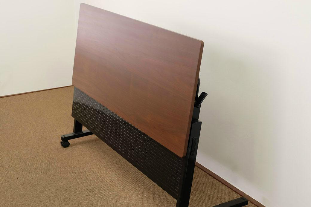 フラップテーブル。既製品を高級なウォールナット仕上げにリメイクし修理。