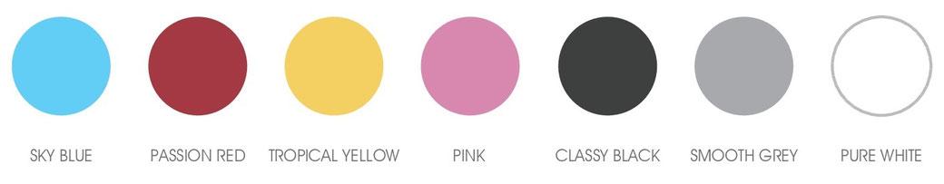 Farben für die Whirl-Wanne