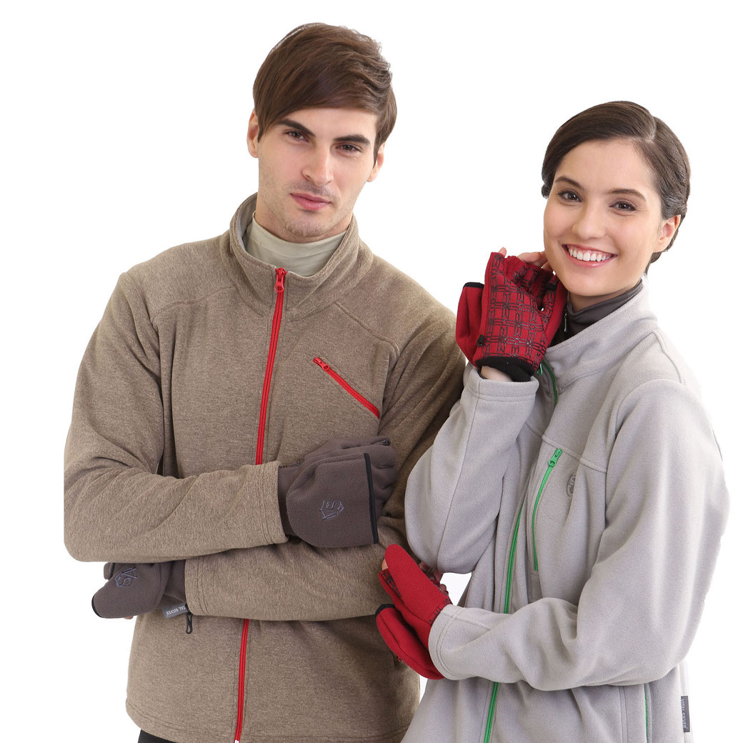 3WARM Windproof Non Slip Half-finger Gloves