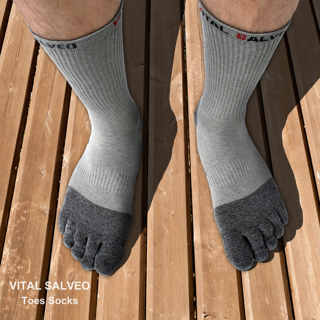 Toes Athletic Crew Socks