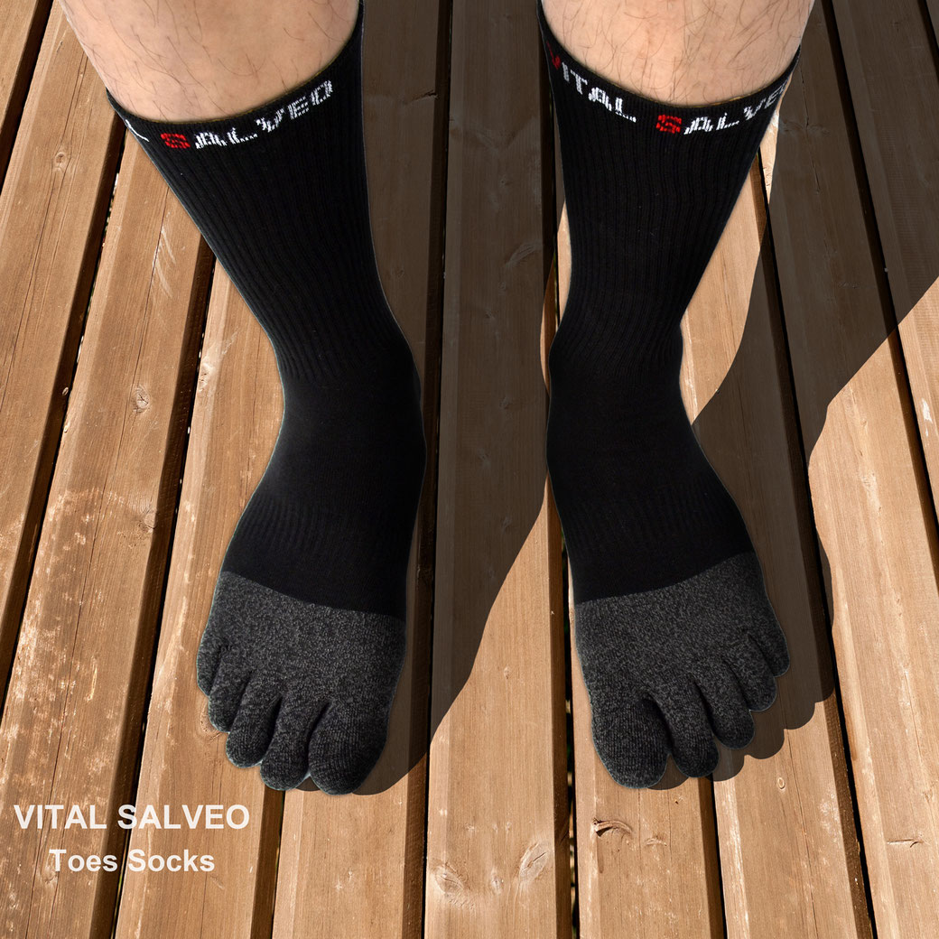 Toes Athletic Crew Socks