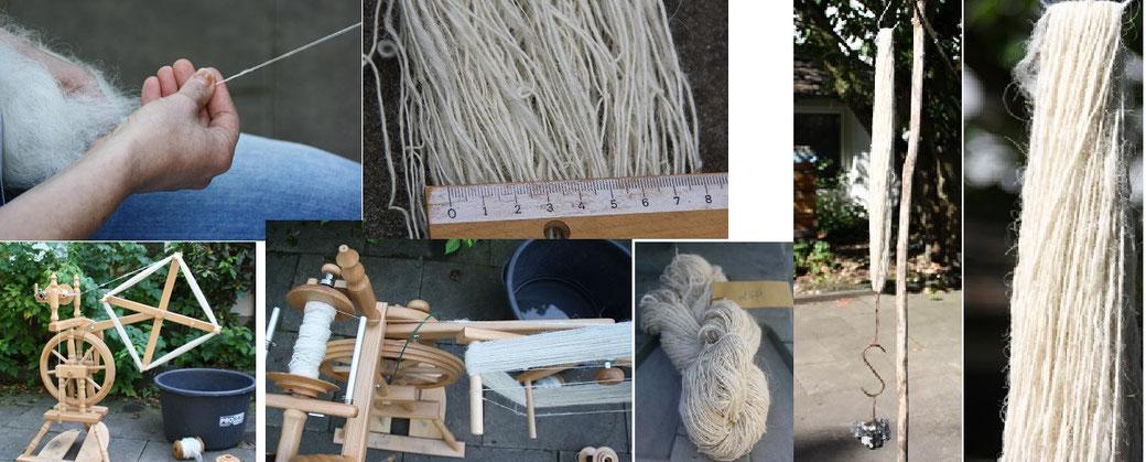 Nacharbeitung des Mantels aus dem Bernuthsfeld Moors : das spinnen der Garne