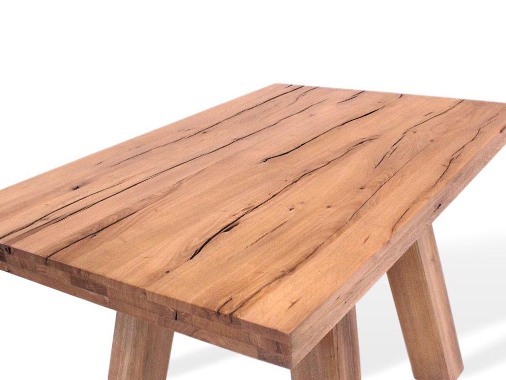 altholz esstisch - naturnah möbel - moderne massivholzmöbel