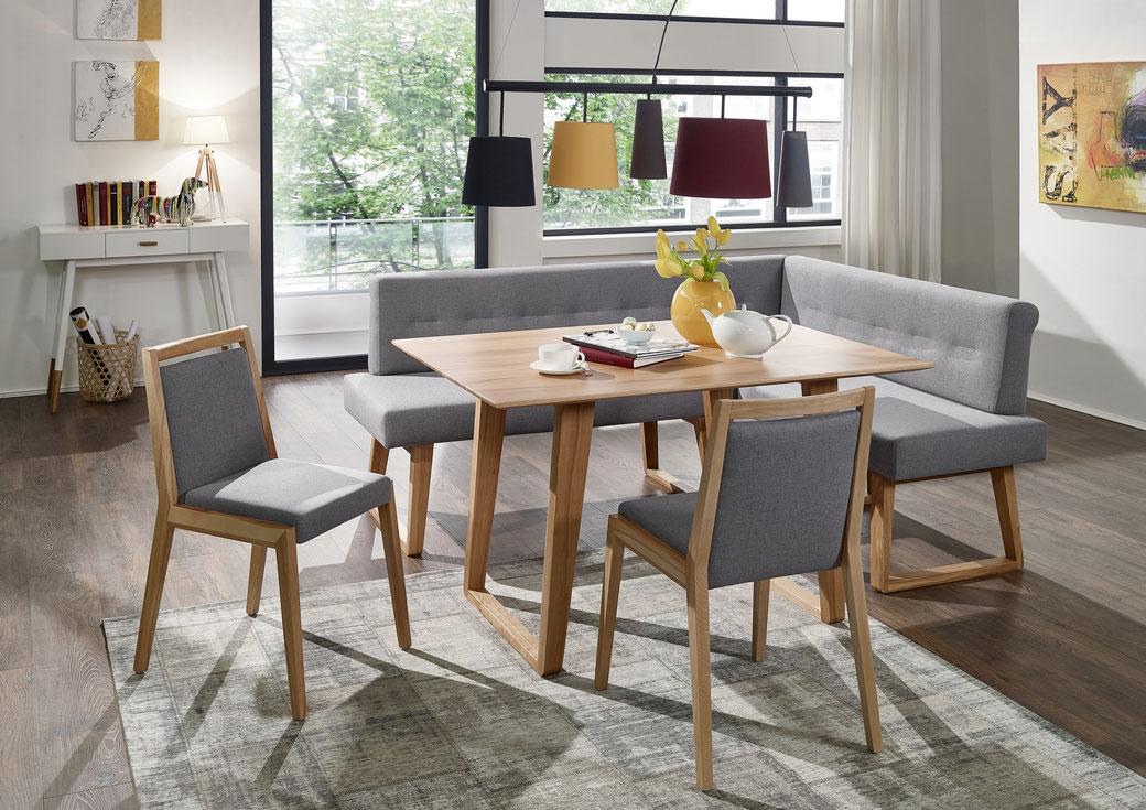 Divine Eckbank Echtleder - Naturnah Möbel - Moderne Massivholzmöbel