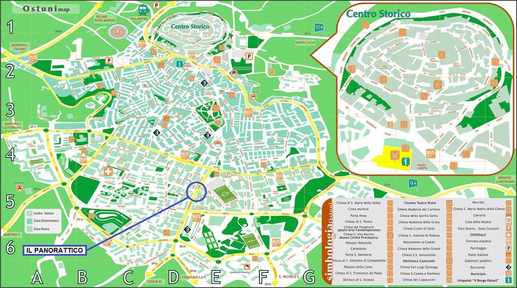La citt bianca ostunipanorattico for Mappa della costruzione di casa