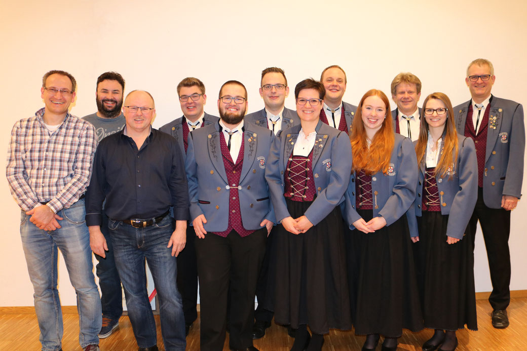 Die neu-gewählte Vorstandschaft des MV Bohlingen