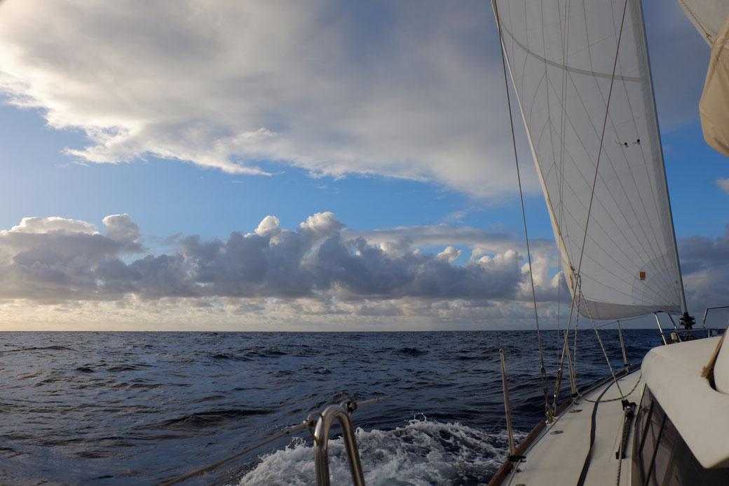 In den ersten Tagen kommen wir bei stetigem Passatwind gut voran