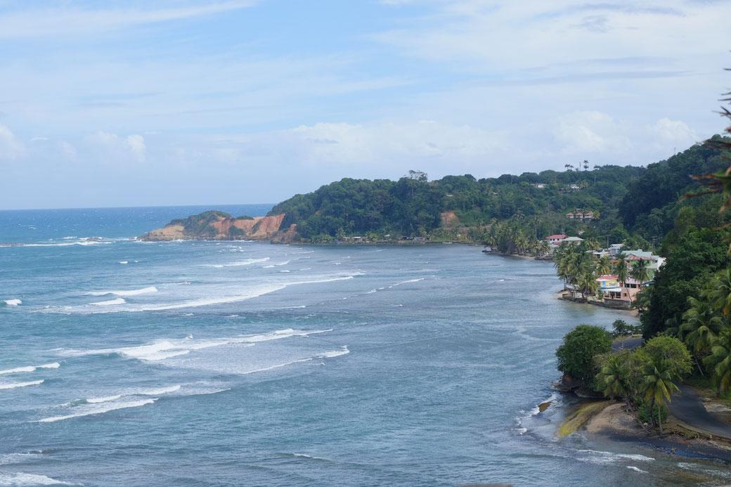 Blick auf die Luvseite der Insel