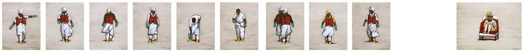 10 KLEINE HELFERLEIN | 24 x 30 cm + SCHNEEWITCHEN | 40 x 30 cm | Jan 12