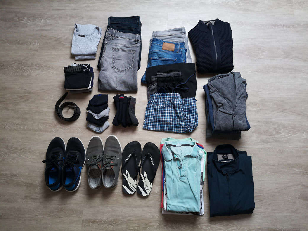 Kleidung auf Weltreise