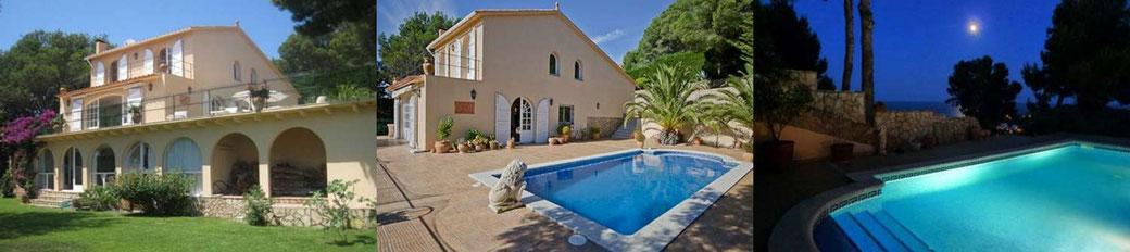 Villa avec piscine privée et vue mer à louer pour les vacances sur la Costa Brava à Tamariu