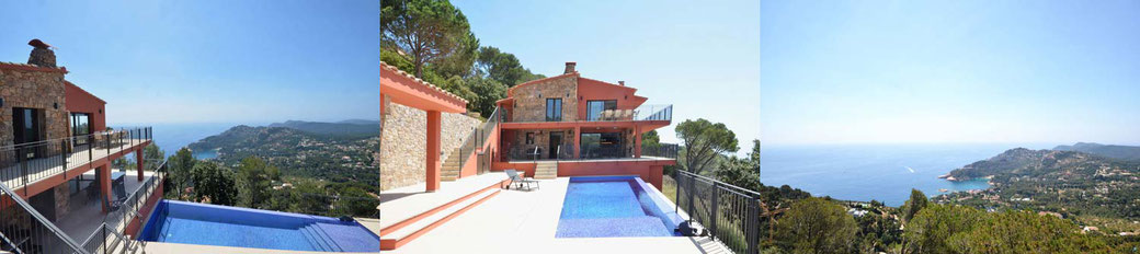 Villa avec piscine privée et vue sur la mer à Begur à louer pour 10 personnes.
