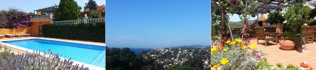 Belle villa à louer pour les vacances  près de Tossa de mar sur la Costa Brava en Espagne