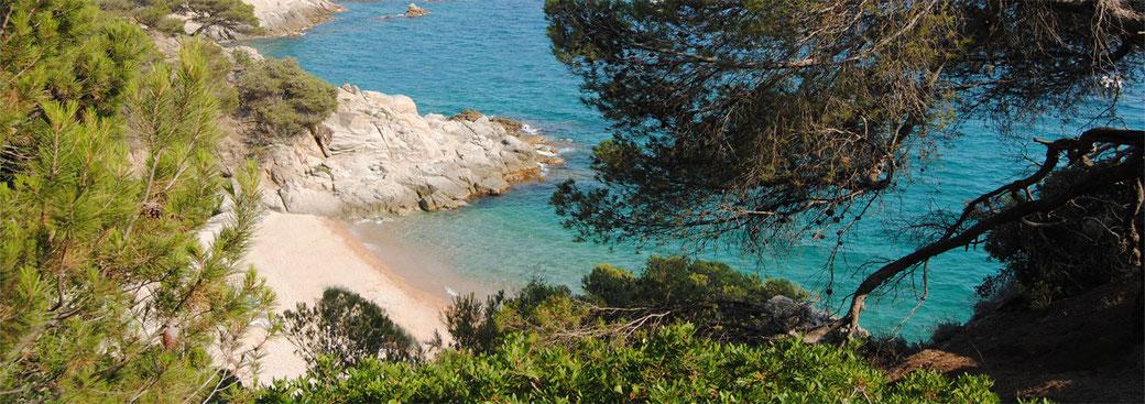 Belles vacances à Begur en bord de mer sur la costa Brava espagne