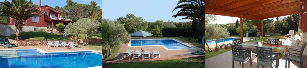 Location vacances begur, villa avec piscine privée et grand jardin