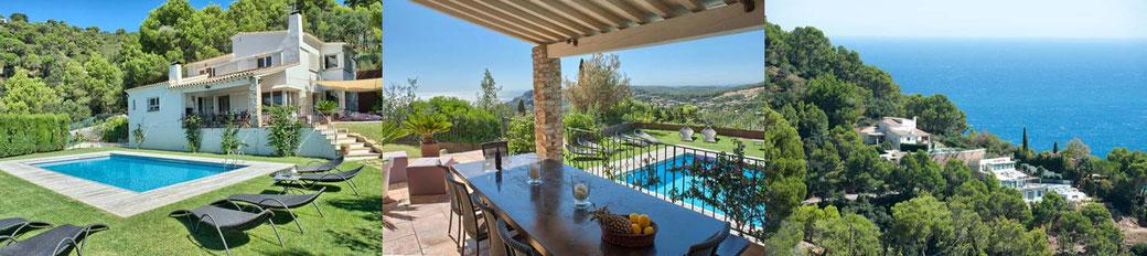 Villa avec piscine privée et vue sur la mer pour 13 personnes à louer pour les vacances à Begur