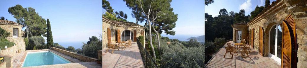 Belle villa à louer pour les vacances à Begur pour 6 personnes, piscine privée et vue sur la mer.