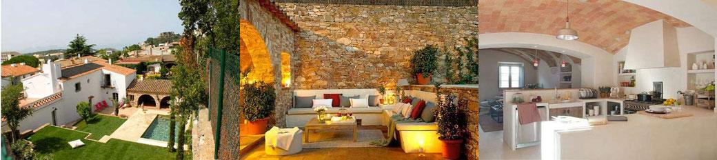 Très belle maison de village à louer pour les vacances à Begur sur la Costa Brava avec piscine privée et située dans une rue calme au centre de Begur