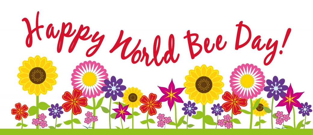 Happy World Bee Day Grafik