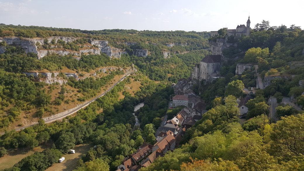 Vue du village de Rocamadour