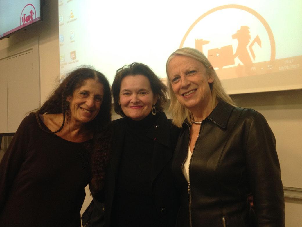 Le 10 janvier 2017 à l'Institut de Sciences Politiques avec à gauche Francoise Milewski, Economiste à l'Observatoire Français des Conjonctures Économiques  et Responsable  du Programme de Recherche et d'Enseignement des Savoirs sur le Genre (PRESAGE).