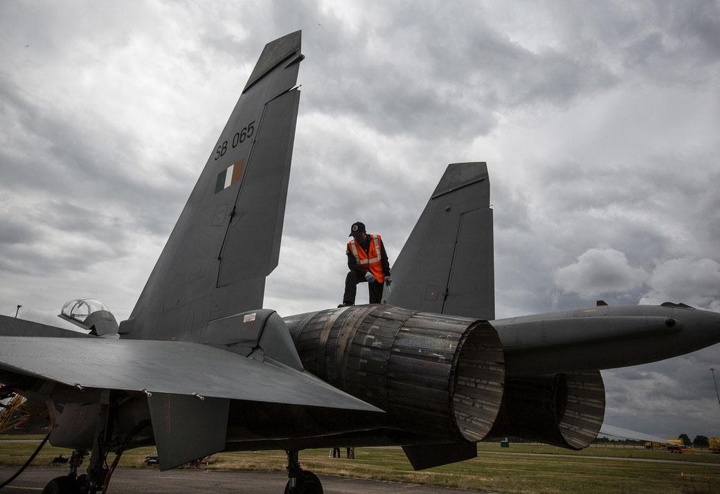 Gli ugelli di scarico orientabili del Su-30MKI. (Foto: Royal Air Force)