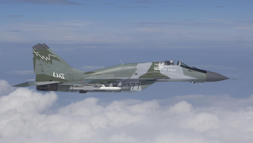 La foto mostra la gobba che differenzia il MiG-29SMT dagli altri esemplari. / (Foto: RAC MiG)