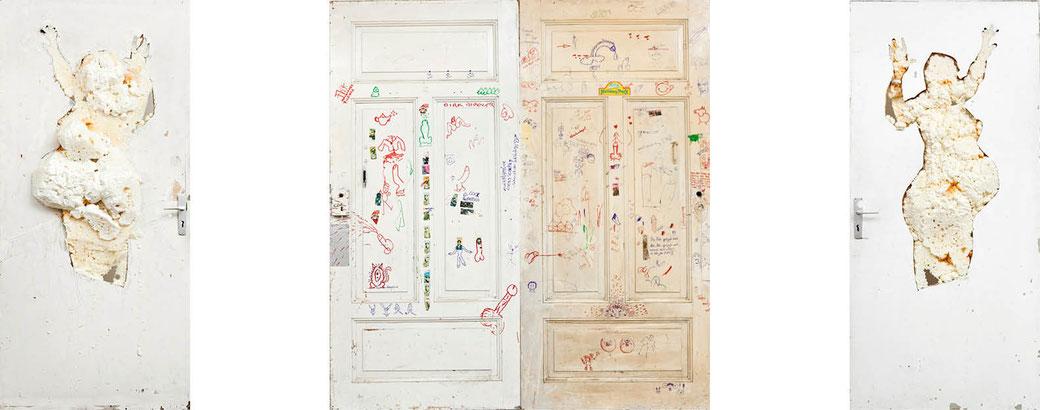 Türen aus EndogenerVersuch zum Tryptichon angeordnet;( als fine art print erhältlich)