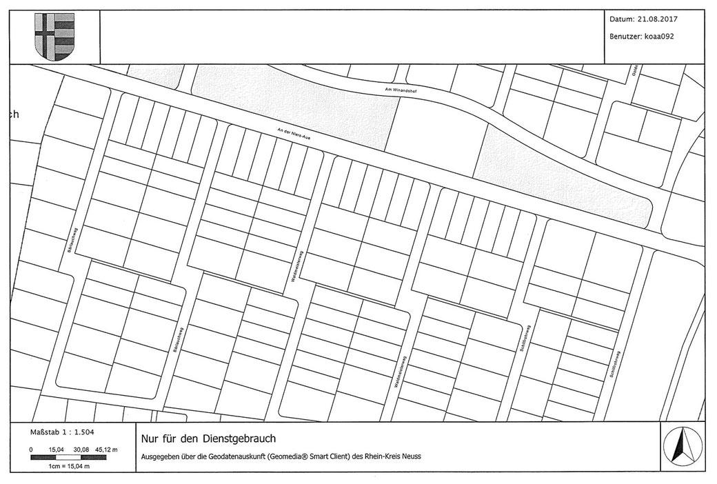 """Neubaugebiet Korschenbroich-West """"An der Niersaue"""" - Die neuen Straßennamen"""