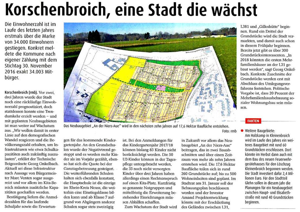 Korschenbroich Niersaue - Baugebiet Korschenbroich West