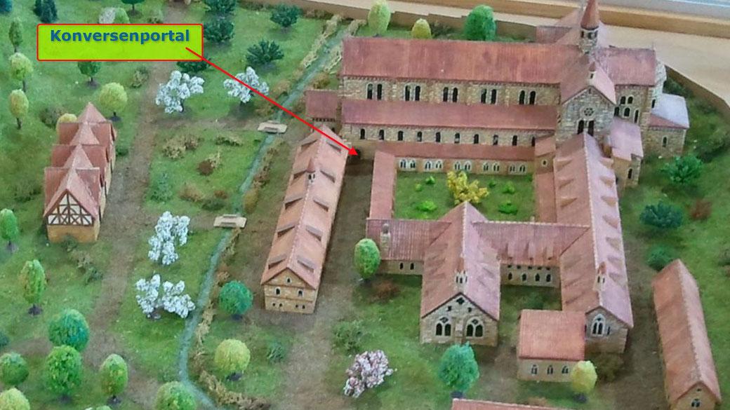 Konversenportal ,ehemaliges Kloster Otterberg, Ansicht aus Süden, Modell Heimatmuseum