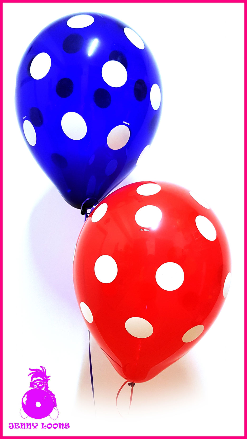 QUALATEX 16inch Polka Dots Kristall Crystal Punkte Luftballons Balloons Rockabilly