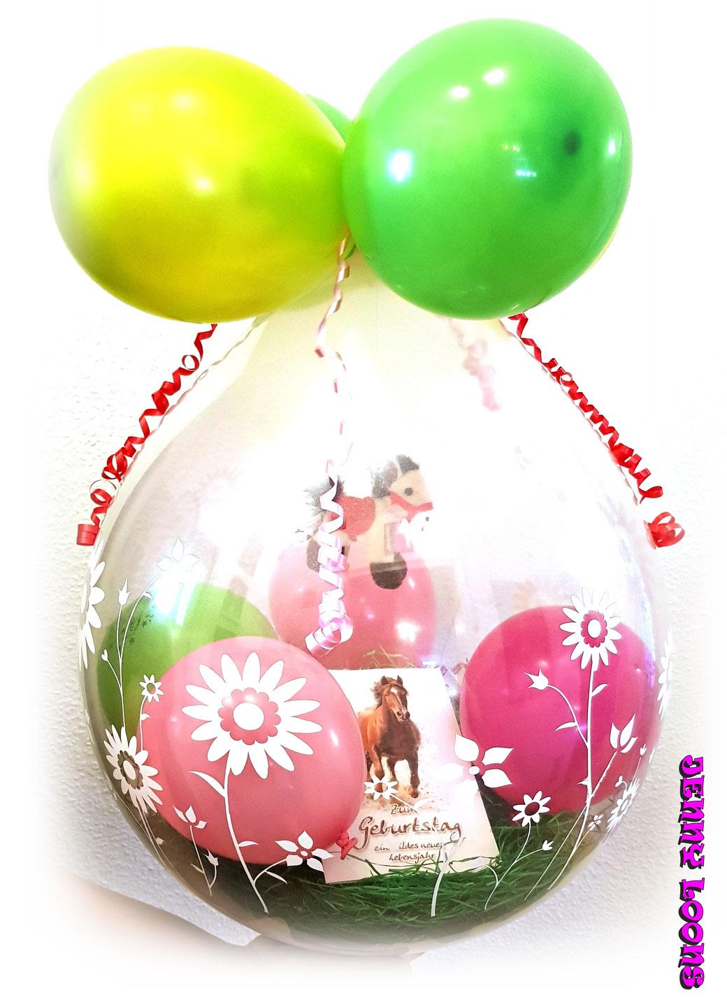 Geschenkballons zur Geburt - Hochzeit - Jubiläum - Geburtstag und viel mehr