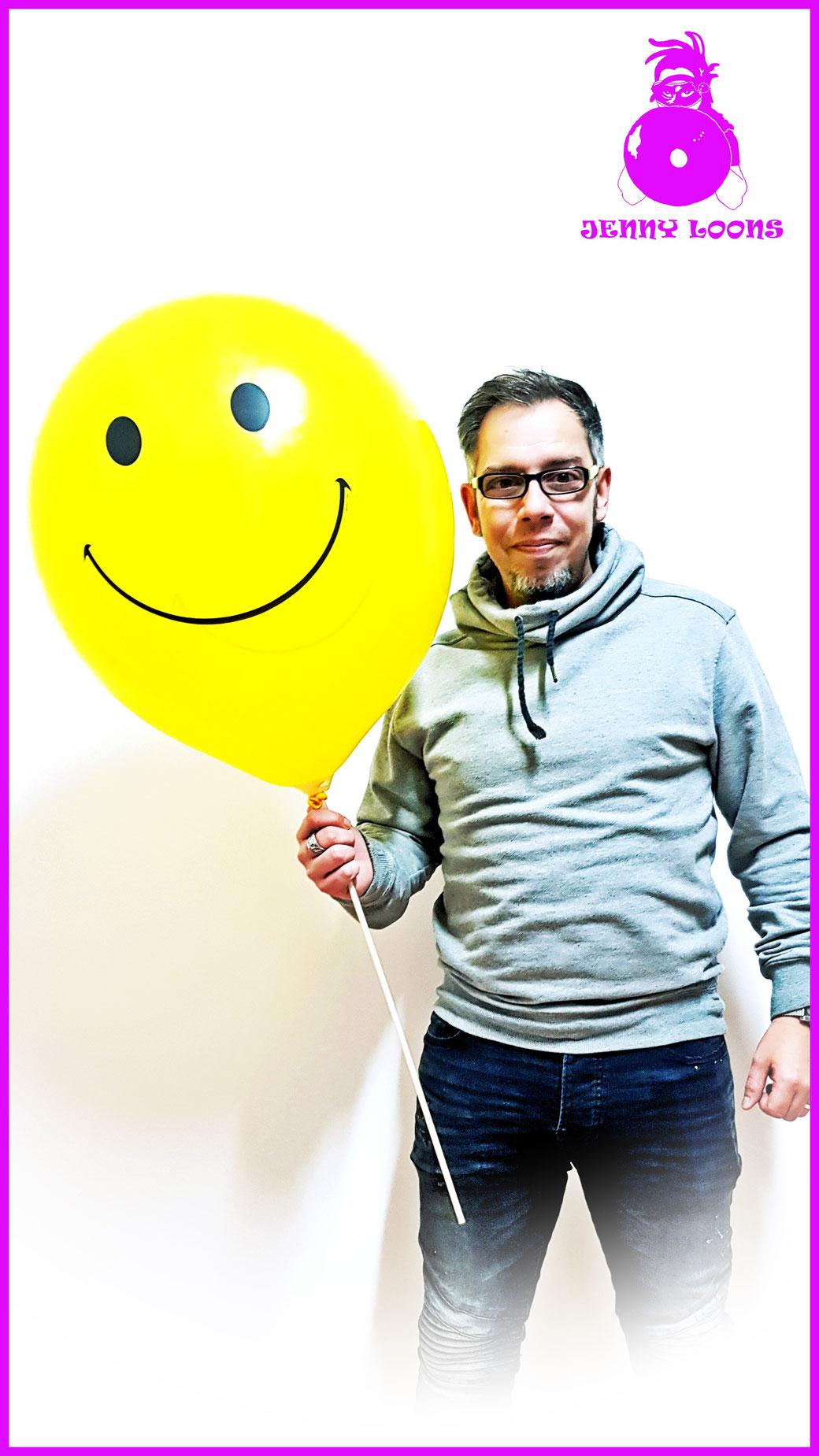 """Smiley Face BSA Balloon Balloons Luftballons Ballons PBC 17"""""""