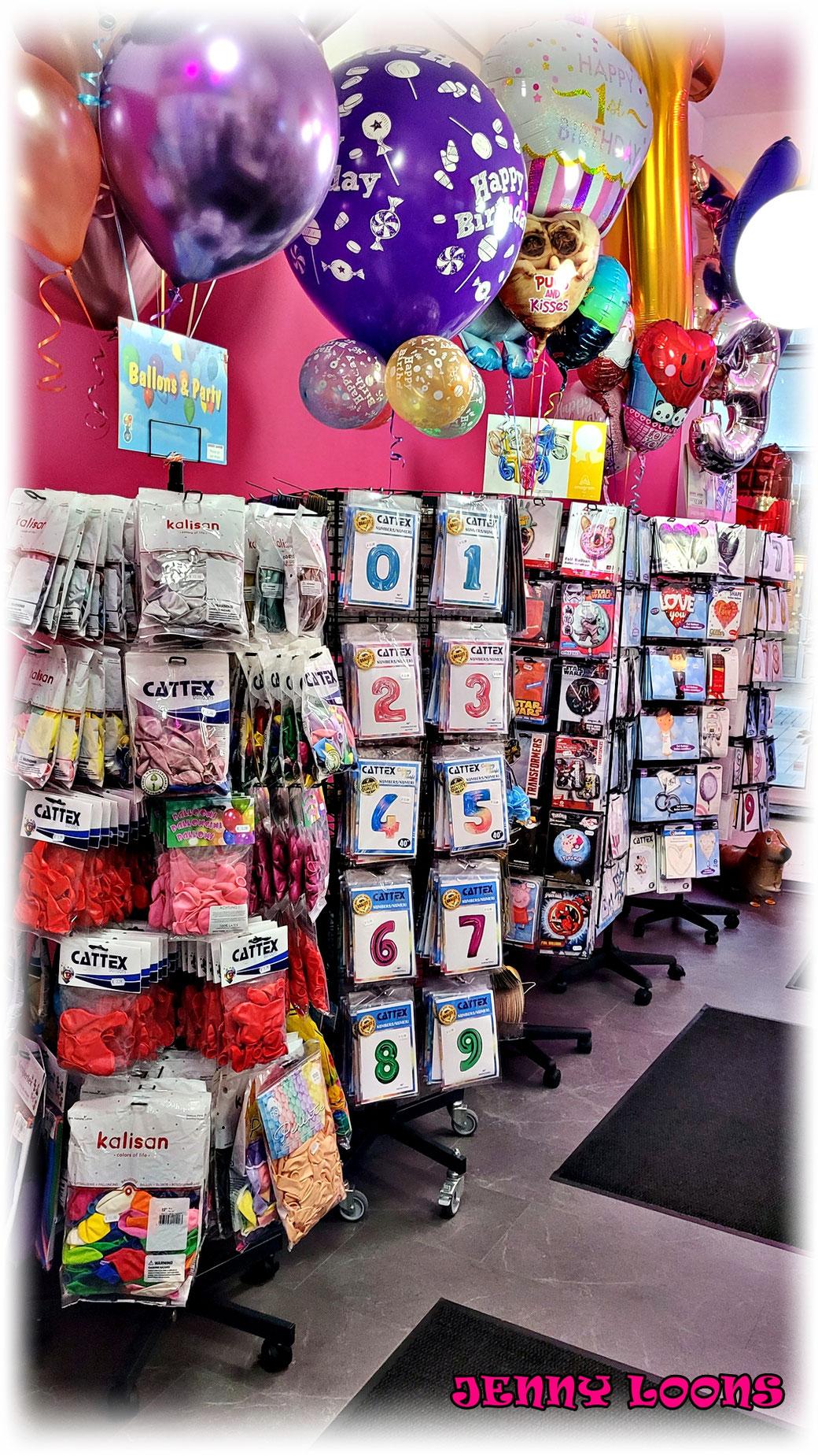 Folienballons - Seepferdchen - Pokemon - Einhorn - Zahlen - Buchstaben - Happy Birthday - Love