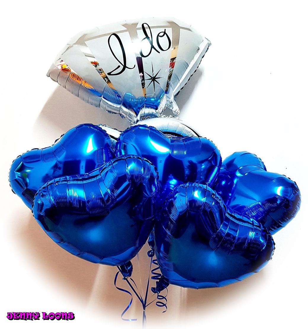 Folienballons Ballonbouquets Herzen Hochzeitsballons