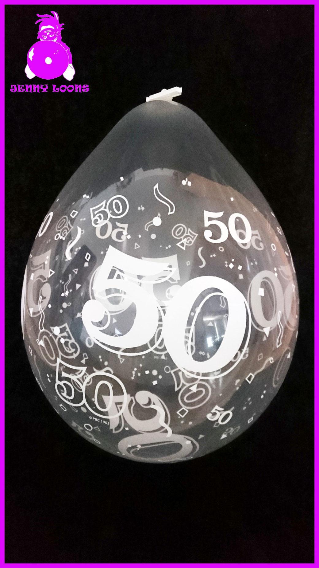 "QUALATEX 18"" Stuffer Geburtstag - Birthday - Jubiläum - Anniversary 50"