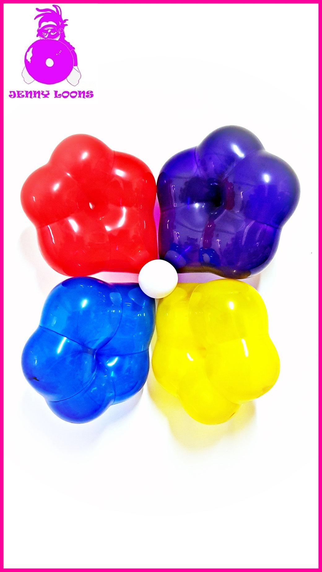 Qualatex Geo-Blossom Blossoms Blumen Blume Luftballons Balloons Deco