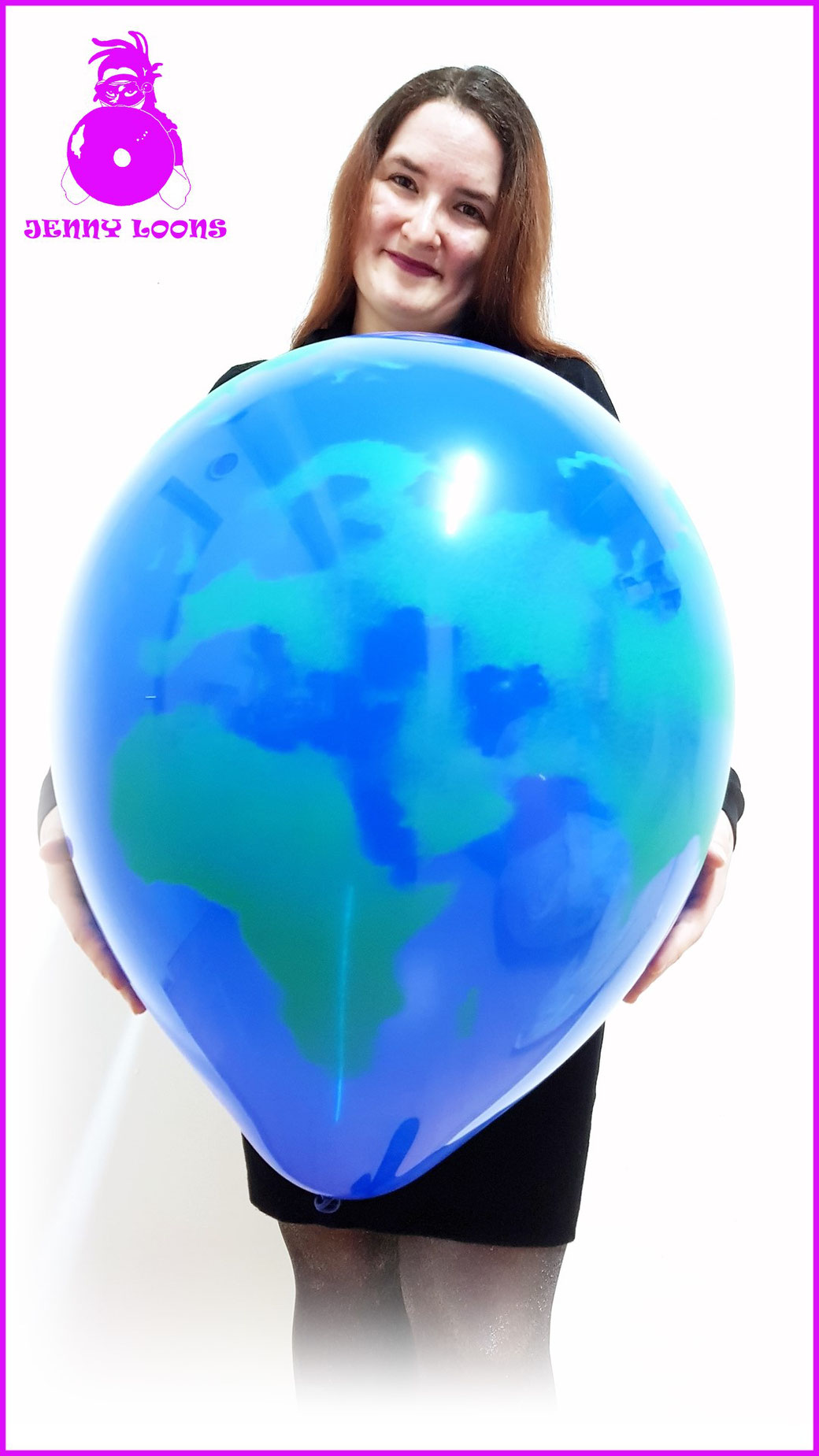 Qualatex Luftballon Ballon Erde Earth 16inch 40cm Spray Deco Strumpfhose blau grün Balloon Balloons