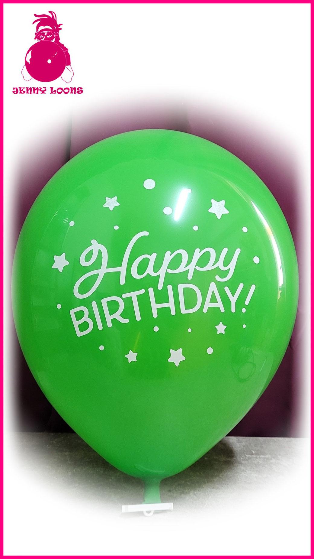 TUF-TEX TUFTEX Luftballon Happy Birthday HBD Fun 17zoll gross Latexballon Geburtstag