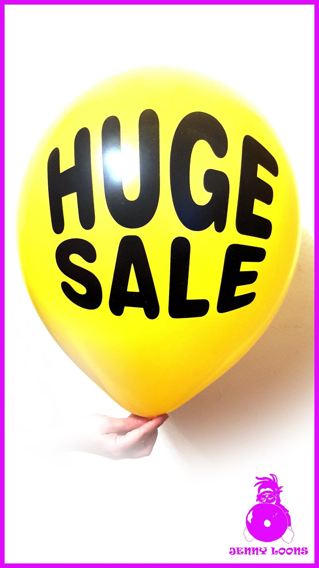 "TUF-TEX 17"" HUGE SALE Luftballon Balloon gelb yellow"