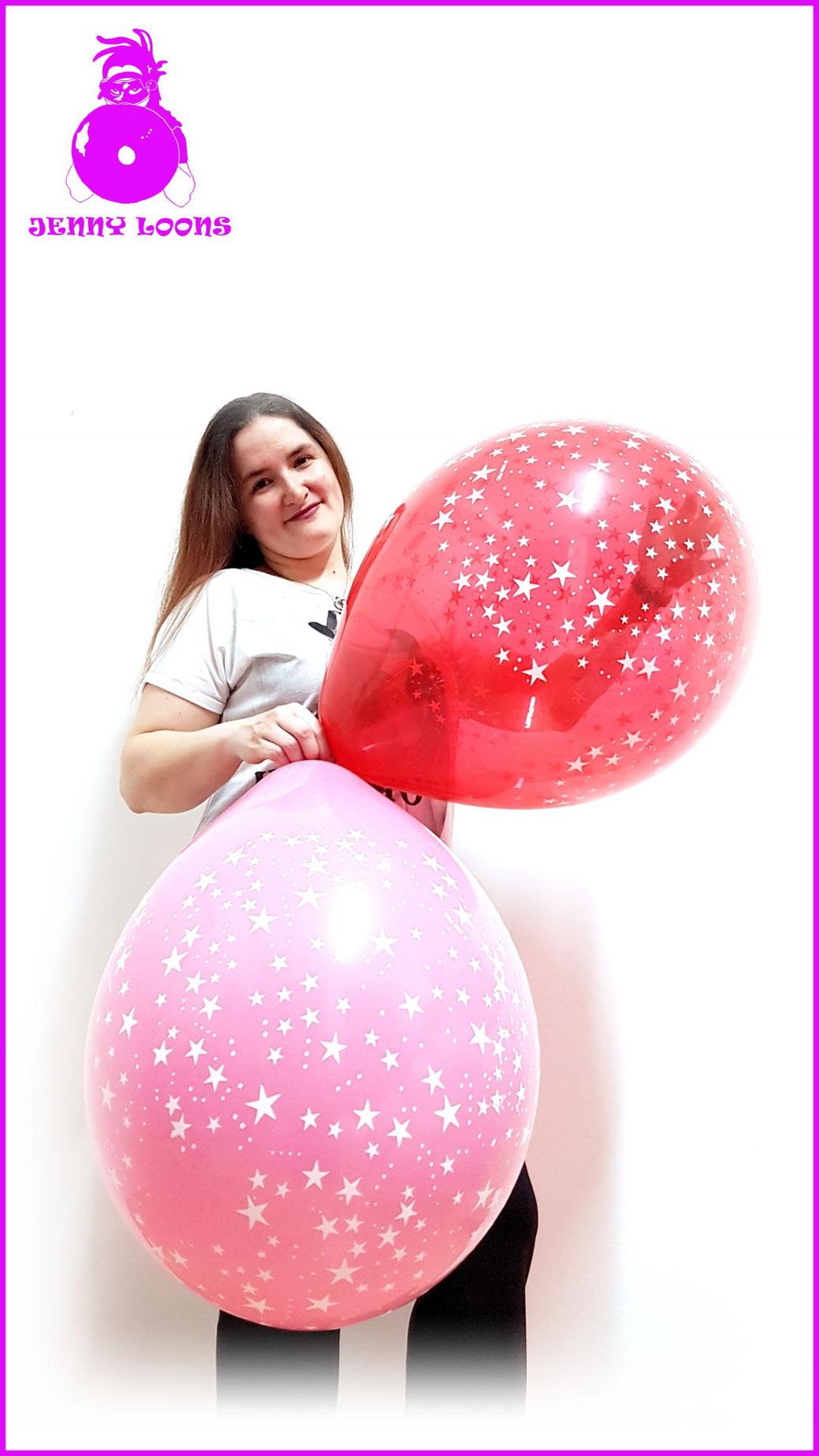 Qualatex Luftballon Ballon Stars Sterne 16inch 40cm kristall crystal rot red blau blue green gelb yellow orange rosa rose pink grün Balloon Balloons
